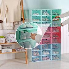Shoe Box Storage Case Organizer Foldable Plastic Stackable Drawer Transparent