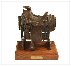 David Argyle Collectors Series Bronze Sculpture Signed Hope Saddle Western Art
