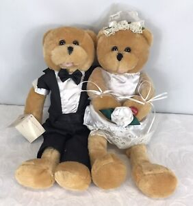 Retro Chantilly Lane 'Duet's Bride and Groom Teddy Bears - NOT WORKING