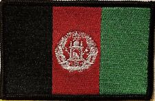 Afghanistan Flag Military Army Patch With VELCRO® Brand Fastener Black Border