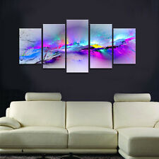 Abstract Canvas Art Print Photo Pic Wall Home Decor Poster Purple Colors Framed