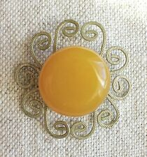 Antique Vintage Soviet time Butterscotch Natural Baltic Amber Brooch 5,9 G.