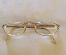 Vintage AVANT GARDE Frames Eyeglass France RETRO Clear & Gold