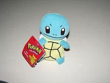 "Nintendo Pokemon Plush Stuffed Squirtle Turtle Bean Bag Doll NWT w Tag 1998 5"""