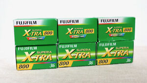 Vintage JOB LOT of Fujifilm Fuji Superia 800 Colour 35mm film Expired lomo