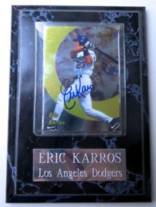 Eric Karros Signed Autographed Trading Card Plaque Dodgers 1998 Bowman GX31470