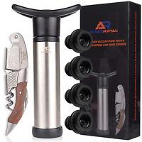 BARVIVO 4 pc Professional Wine Aerator Preserver Pump Set Vacuum Bottle Stoppers