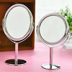 A&C Double Sided Round Table Magnifying Mirror Cosmetic Makeup Shaving Swivel UK