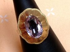 Exclusiver Amethyst Ring - 13 x 9 mm - 14 Kt. Gold - 585 - Oval Schliff - Gr. 55