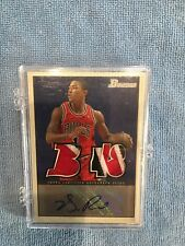 2009-10 Derrick Rose Bowman 48 Locker Room Collection Relic Auto 15/24 patch