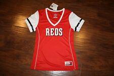 NWT Cincinnati Reds Fan Fashion BLING JERSEY/Shirt MAJESTIC Womens Sz Medium