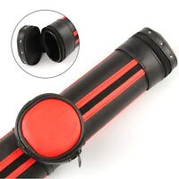 Stylish Black  and RED Oval Pool Snooker Cue Case - Detachable Pocket