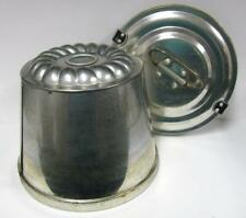 WEST GERMAN VINTAGE MOLD ALUMINUM 2PC for CAKE JELLO PUDDING LID FASTENS