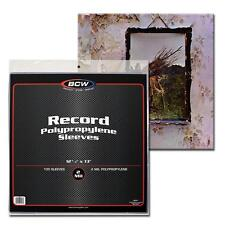 200 BCW Record Sleeves Plastic Outer 33 RPM LP Covers Album Holders Protection