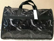 LeSportsac Candace Classic Weekender Black Marble Duffel Bag MSRP $125