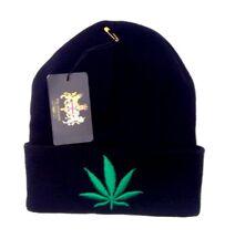 WEED Leaf Beanie Knit Hat Skull Cap- New Design