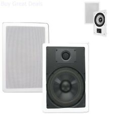 Ceiling In-Wall Speakers Theater Solutions CS8W 8-Inch Polypropylene Wall