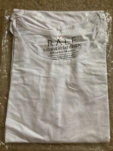 Unisex Brand New Plain White Bamboo T Shirt - Sustainable Fairtrade - XS S M