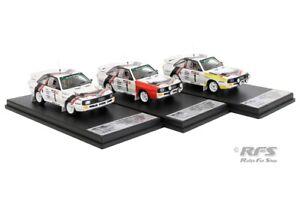 Audi Sport Quattro Set Walter Röhrl 3-Städte Rallye 1984 1:43 Trofeu RRde28 NEU