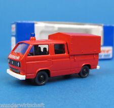 Roco H0 1362 VW T3 DoKa Feuerwehr Pritsche Plane OVP HO 1:87 Volkswagen