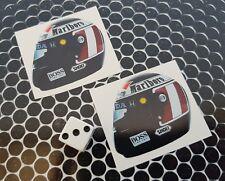x 2 Gerhard Berger Helmet Stickers  Formula 1 F1