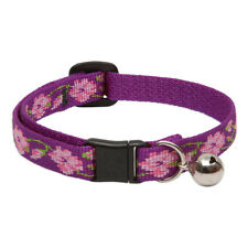 Lupine Cat Collar 12mm Wide With Bell and Safety Release Buckle Asst Patterns Rose Garden
