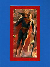 SUPERMAN PRINT PROFESSIONALLY MATTED Alex Ross art
