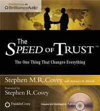 Speed of Trust - Live Performance by Stephen M. R. Covey (2014, MP3 CD,...