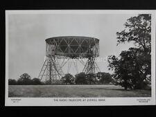 Cheshire RADIO TELESCOPE AT JODRELL BANK - Old Postcard by Lilywhite HC11