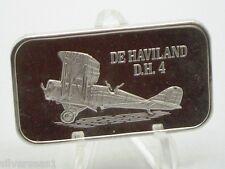1974 USSC MARK IV REVERSE THE DE HAVILAND DH 4 BIPLANE DAY BOMBER SILVER BAR