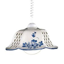 Pendelleuchte Keramik Keramikschirm mit Blumenmuster E27 max. 100W Ceramiche