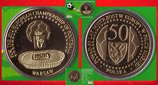 Fußball MEDAILLE Ø 40 mm EM 2012 POLEN POLSKA + UKRAINE - WARSCHAU WARSZAWA