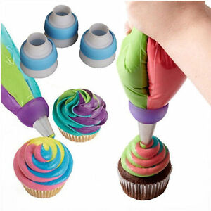 HOT Icing Piping Russian Nozzles Bag Cream Converter Coupler Cake Decor Tools