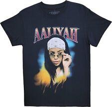 New Mens Aaliyah Vintage Graphic R&B Singer Pop Side Eye T-Shirt Retro Black Tee