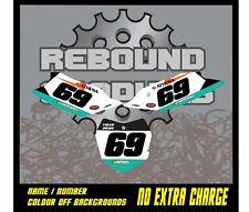 KTM SX SXF 50 65 85 125 250 450 Background Graphics Number Boards Sticker Decals