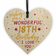 18th Birthday Wood Heart Card For Daughter Best Friend Sister Gift 18 Decoration