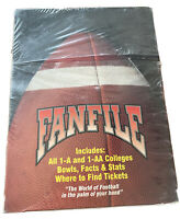 Fanfile 1991 Football Edition Box - Factory Sealed...extremely RARE!