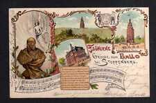 112236 AK Stoppenberg Litho 1899 Kaiser Wilhelm Turm