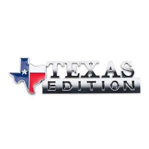 Texas Edition Flag Emblem Badge Tailgate Decal Sticker Metal 3D LOGO Chrome OEM