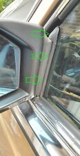 Set - Mercedes W123 C123 Coupe CE CD seal WINDOW GUIDE RAIL strip A1237200117