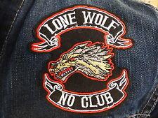 ECUSSON PATCH THERMOCOLLANTS LONE WOLF NO CLUB biker country moto motard chopper
