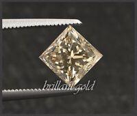 Diamant Prinzess Schliff Farbe zart champagner von 0,10-0,25ct, mit Zertifikat