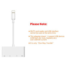 4in1 Lightning to USB With Micro SD Card Reader Adapter For iPhone iPad