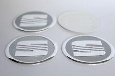 Autocollant Sticker Centre de Roue Cache Moyeu Jante Alu pour SEAT 4 x 60mm