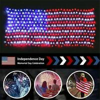 1PC American National Flag Mesh Lamp LED Net Lights Home Party Festival Decor