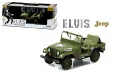 Elvis Presley 1963 Jeep M-38A1 (CJ-5) Diecast 1:43 GreenLight 4 inch Army Green