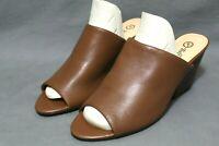 BELLA-VITA Women's Casual Open Toe Slip-On Sandals Size 9 N Brown Leather Upper