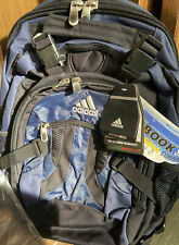 NWT! ADIDAS Compression II Navy Black Backpack With Compression Sleeve Laptop