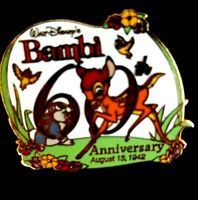 Disney Pin 14368 Bambi's 60th Anniversary Bambi & Thumper LE 5000