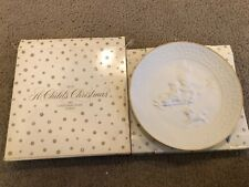 Avon 1985 A childs Christmas white xmas Plate Mib